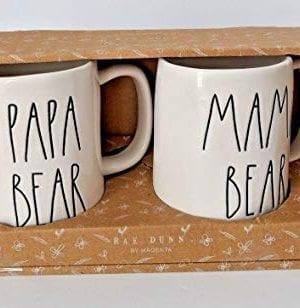RAE DUNN MAMA BEAR PAPA BEAR BOXED MUG SET 0 0 300x308