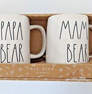 RAE DUNN MAMA BEAR PAPA BEAR BOXED MUG SET 0 300x309