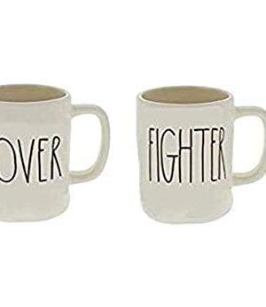 RAE DUNN By Magenta LOVER FIGHTER Mug Set 0 300x347