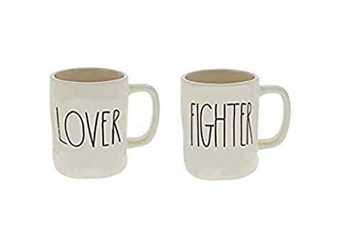 RAE DUNN By Magenta LOVER FIGHTER Mug Set 0