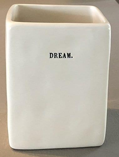 Rae Dunn Artisan Collection By Magenta PenPencil Holder 45 X 3 X 3 DREAM Type Writer Print 0