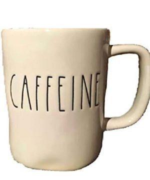 Rae Dunn Artisan Collection Dishwasher Safe Coffee Tea Mug CAFFEINE 0 300x360