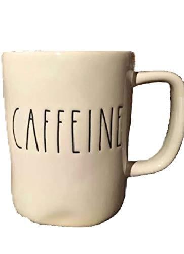 Rae Dunn Artisan Collection Dishwasher Safe Coffee Tea Mug CAFFEINE 0