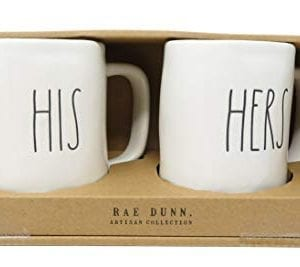 Rae Dunn Artisan Collection His Hers Set Of 2 Mugs By Magenta 0 300x267