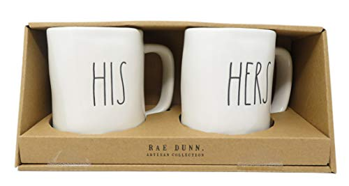 Rae Dunn Artisan Collection His Hers Set Of 2 Mugs By Magenta 0