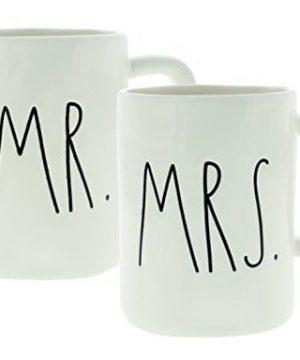 Rae Dunn Artisan Collection Mr Mrs Set Of 2 Mugs By Magenta White 0 300x360