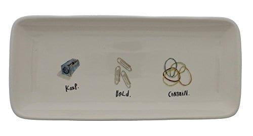 Rae Dunn Artisan Collection By Magenta Keep Hold Contain Desk Organizer 0