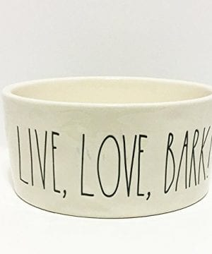 Rae Dunn Artisan Collection By Magenta Live Love Bark By Rae Dunn Ceramic Dog Bowl Collection X Large 0 300x360
