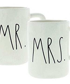 Rae Dunn Artisan Collection By Magenta Set Of 2 Mugs Mr Mrs In Gift Box 0 300x360