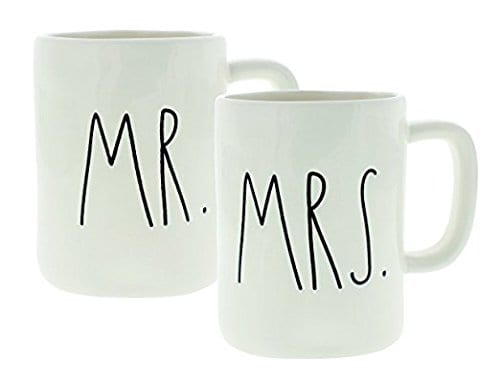 Rae Dunn Artisan Collection By Magenta Set Of 2 Mugs Mr Mrs In Gift Box 0