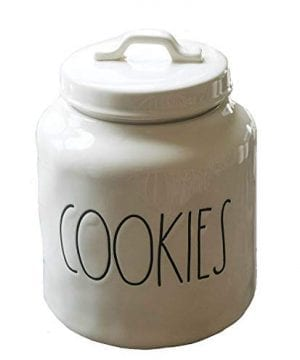 Rae Dunn Artisan CollectionCOOKIES Cookie Jar Canister Container 0 300x360