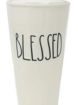 Rae Dunn BLESSED Travel Tumbler With Lid Coffee Mug 0 265x360
