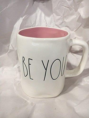 Rae Dunn Be You Mug With Pink Inside 0