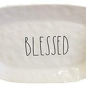 Rae Dunn Blessed Thanksgiving Holiday Serving Platter Artisan Collection 0 300x303