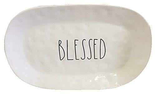 Rae Dunn Blessed Thanksgiving Holiday Serving Platter Artisan Collection 0