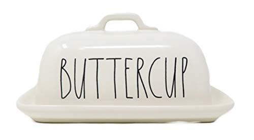 Rae Dunn By Magenta BUTTERCUP Ceramic LL Butter Dish 0