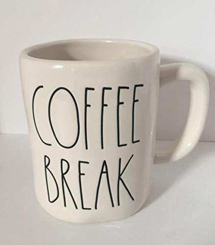 Rae Dunn By Magenta COFFEE BREAK Ceramic LL Coffee Tea Mug 0
