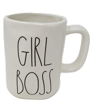 Rae Dunn By Magenta GIRL BOSS Ceramic LL Coffee Tea Mug 2018 Limited Edition 0 0 300x360