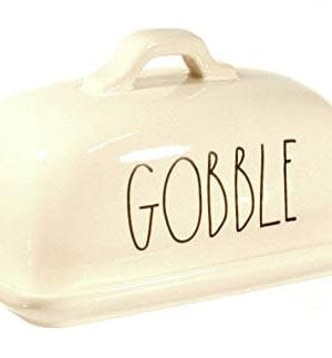 Rae Dunn By Magenta GOBBLE Ceramic Large Letter LL Butter Dish 0 1 300x323