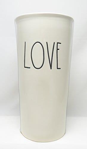 Rae Dunn By Magenta LOVE Large Letter LL Ceramic Travel Tumbler Mug 0 0