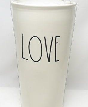 Rae Dunn By Magenta LOVE Large Letter LL Ceramic Travel Tumbler Mug 0 295x360