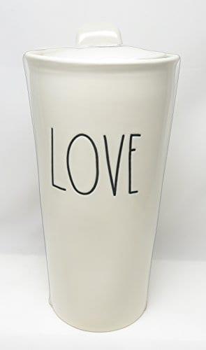 Rae Dunn By Magenta LOVE Large Letter LL Ceramic Travel Tumbler Mug 0