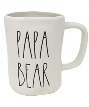 Rae Dunn By Magenta PAPA BEAR Ceramic LL Coffee Tea Mug 2018 Limited Edition 0 300x360