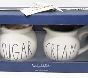 Rae Dunn By Magenta Sugar And Cream Ceramic Large Letter Blue Box Set 0 300x265