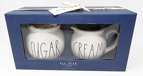 Rae Dunn By Magenta Sugar And Cream Ceramic Large Letter Blue Box Set 0