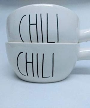 Rae Dunn CHILI Soup Bowls With Handle Set Of 2 0 300x360