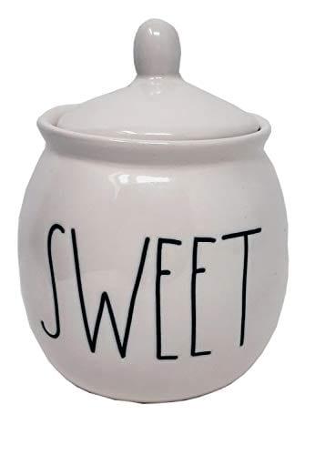 Rae Dunn Ceramic Sugar Pot Bowl Large Letter Sweet 0