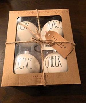 Rae Dunn Christmas Ornaments Joy Peace Love Cheer 0 300x360