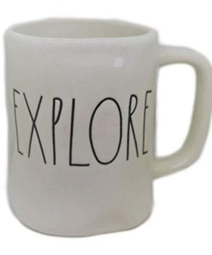 Rae Dunn EXPLORE In Large Letters LL Coffee Tea Soup Mug Cup 0 300x360
