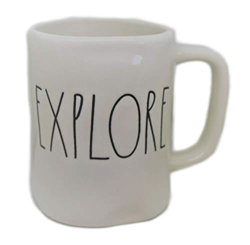 Rae Dunn EXPLORE In Large Letters LL Coffee Tea Soup Mug Cup 0