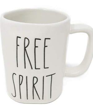 Rae Dunn FREE SPIRIT In Large Letters LL Coffee Tea Soup Mug Cup 0 0 300x360