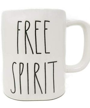 Rae Dunn FREE SPIRIT In Large Letters LL Coffee Tea Soup Mug Cup 0 300x360