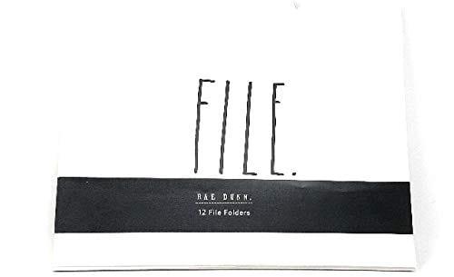 Rae Dunn File Organize Save 12 File Folders 0