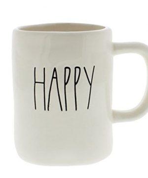 Rae Dunn HAPPY Ceramic Coffee Mug By Magenta 0 300x360