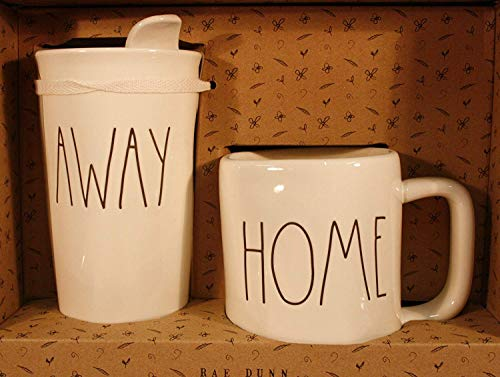 Rae Dunn HOME And AWAY Travel Tumbler With Lid Coffee Mug Cup Gift Set 0 0