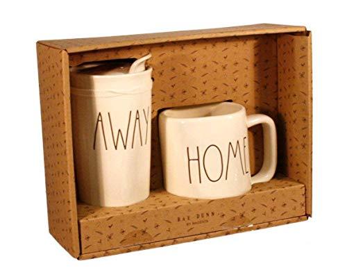 Rae Dunn HOME And AWAY Travel Tumbler With Lid Coffee Mug Cup Gift Set 0