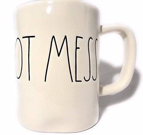 Rae Dunn HOT MESS Ceramic Coffee Mug By Magenta 0 0