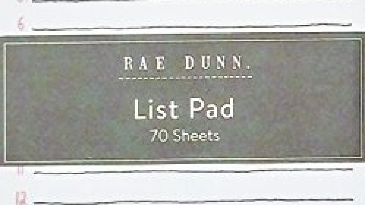 Rae Dunn List Pad Take Note Memo Notepad Notes Organize Lists Office School Work Home