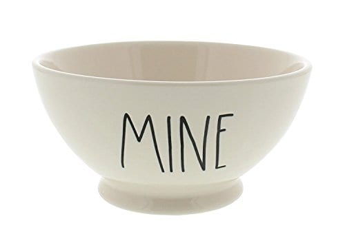 Rae Dunn Magenta Artisan Collection Bowl MINE Black Letters 0
