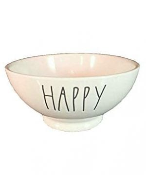 Rae Dunn Magenta Artisan Collection Cereal Soup Bowl HAPPY 0 300x360
