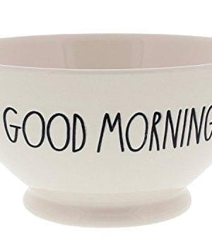 Rae Dunn Magenta Artisan Collection Soup Cereal Bowl GOOD MORNING 0 300x354