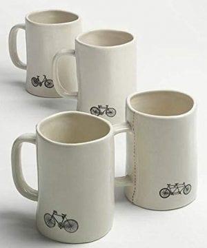Rae Dunn Magenta Bike Mugs Set Of 4 Different Designs Breathe Trek Pedal Cycle 0 0 300x360