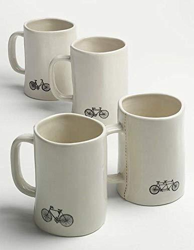 Rae Dunn Magenta Bike Mugs Set Of 4 Different Designs Breathe Trek Pedal Cycle 0 0
