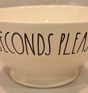 Rae Dunn Magenta Ceramic Cereal Bowl Seconds Please 0 300x317