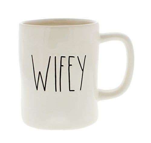 Rae Dunn Magenta Ceramic Coffee Mug Wifey 0