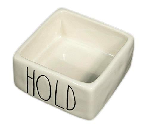 Rae Dunn Magenta Ceramic Desk Organizer Paper Clip Rubber Band Staples Square Holder Hold 0